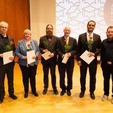 Träger des stuvus-Sonderpreises Träger des stuvus-Sonderpreises Lehre; 3. von rechts: Prof. Friedrich
