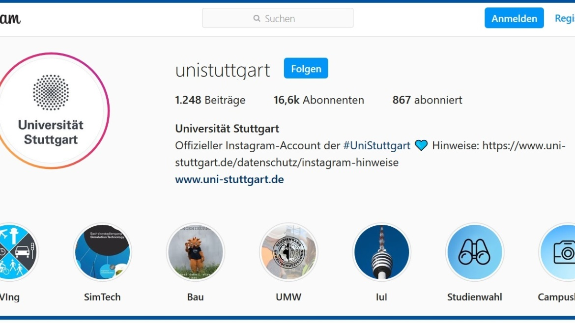 Faculty took over the Instagram account of the University of Stuttgart for one week