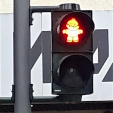 red traffic light for pedestrians Mainzelmännchen red traffic light for pedestrians Mainzelmännchen